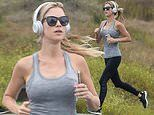 Christina Anstead doesn't let self-isolation stop her from getting a workout