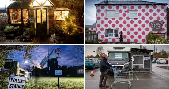 A windmill, a launderette and a caravan - the UK's most unusual polling stations