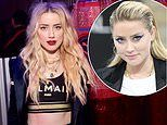 Amber Heard displays her punky new look as she flashes her toned abs at Puma x Balmain launch