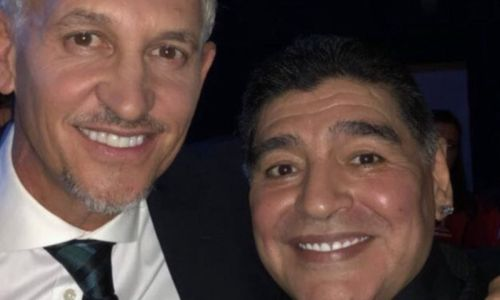 Gary Lineker leads celebrity tributes to Diego Maradona after death at 60