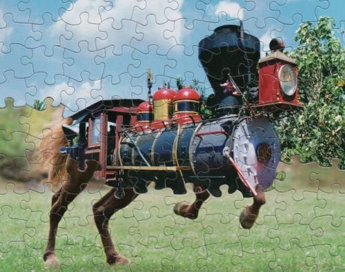 Man creates amazing works of art by combining puzzles cut from the same pattern