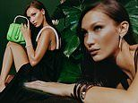 Bella Hadid smolders as she models the new capsule collection for Bvlgari & Ambush