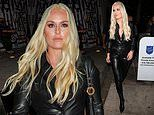 Lindsey Vonn puts on a eye-catching display as she rocks head-to-toe leather