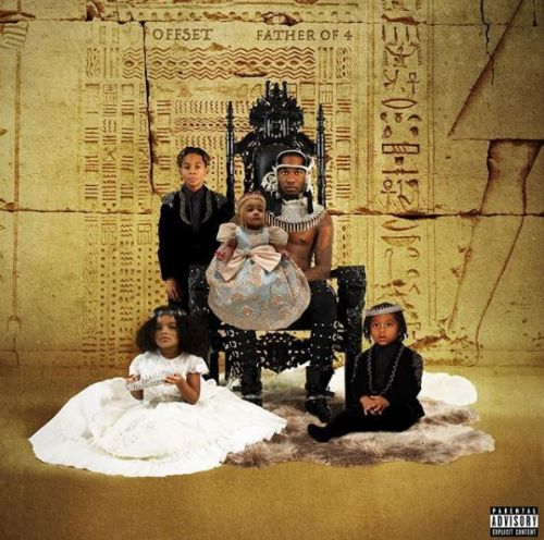 Baby Kulture makes her album cover debut as Offset poses with his four kids for the first time