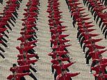Spectacular footage shows Shaolin kung fu students