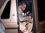 Travis Scott steps out forKendall Jenner's party afterKylie DENIED she is in 'open relationship'