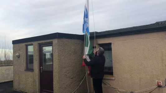 Trump's Scottish neighbour takes down Mexican flag he used to taunt him