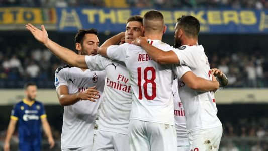 Piatek penalty gives Milan win over 10-man Verona
