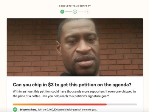 Change.org is keeping the money raised through its record-breaking George Floyd petition - and some donors say they feel misled