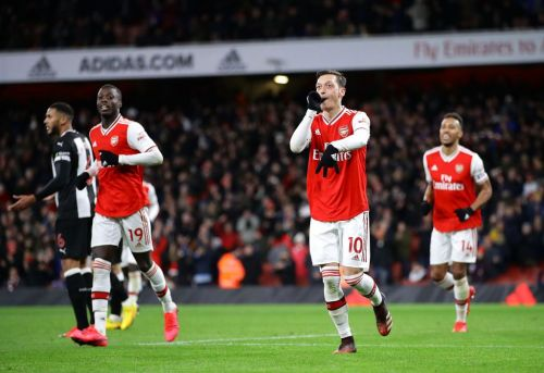 Mesut Ozil sends message to Arsenal fans after ending goalless run in win over Newcastle