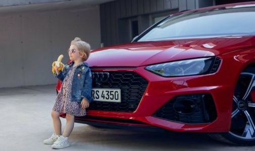 Audi under fire over 'provocative' car advert featuring young girl eating banana