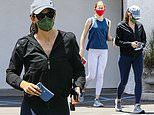 Jennifer Garner, 49, gets in a workout session with lookalike daughter Violet, 15, at a gym in LA