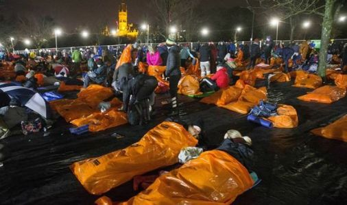 Final Sleep in the Park for the homeless
