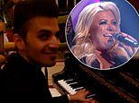 Gemma Collins duets with a pianist at the Dorchester hotel