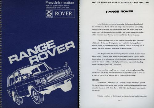 Range Rover at 50: Remembering the 1970 launch and how the upmarket 4×4 changed the game