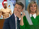 Ben Shephard blushes as his GMB co-star Kate Garraway shares his saucy '2021 calendar'