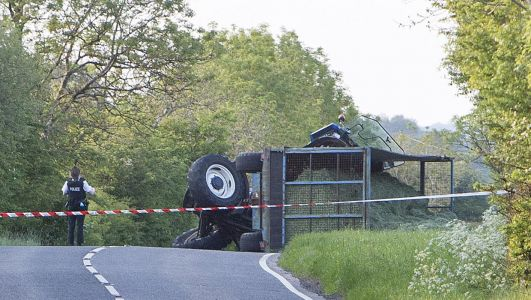 Child taken to hospital by air ambulance after Co Antrim crash between car and tractor