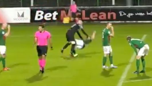 'It's a moment of madness': Glentoran goalkeeper Aaron McCarey sent off for clashing with team-mate Bobby Burns