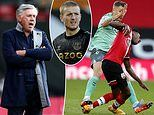 Everton boss Carlo Ancelotti blasts 'joke' decision to send off Lucas Digne against Southampton