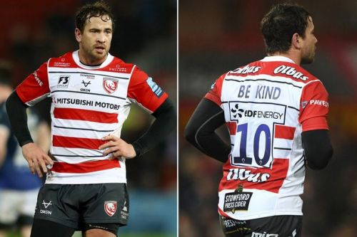 Danny Cipriani and Gloucester team pay tribute to Caroline Flack after star's kit request