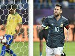Brazil 0-1 Argentina: Lionel Messi marks his return to the side by scoring a rebound from the spot
