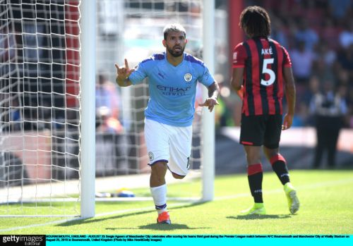 Bournemouth 1 Man City 3: Aguero scores twice as Sterling completes easy win for champions