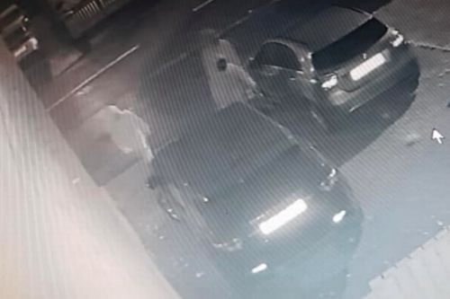 Vandals caught on CCTV causing over £2,000 worth of damage to plush Range Rover parked in Scots drive