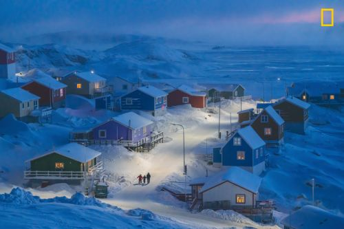 Stunning pic of Greenland town where locals use code to find right house wins National Geographic Travel Photo Contest