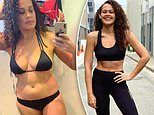Natalie Hamblin-Walker shows off her toned physique after dropping two dress sizes in six months