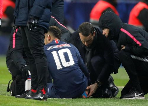 Neymar leaves pitch injured in tears with apparent ankle injury to leave him sweating on Manchester United clash