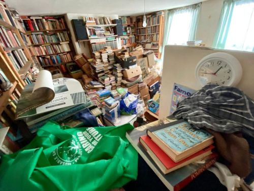 Cluttered Liverpool home filled with thousands of books hits the market for £125,000