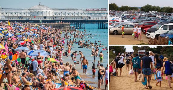 Crowds pack onto beaches again on second day of heatwave despite warnings