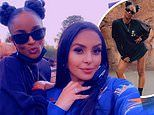 Vanessa Bryant enjoys fun-filled day exploring Disneyland with her family and a VERY leggy Ciara