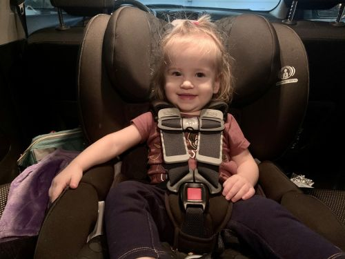 I trust this Britax convertible car seat to keep my daughter safe and comfortable - it has thick padding and an impact-absorbing base