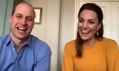 Prince William and Kate Middleton surprise pupils with a video call during Easter holidays
