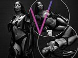Naomi Campbell, 50, shows off her incredible physique in black lingerie