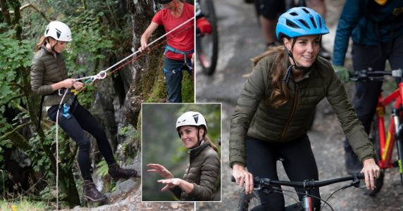 Kate Middleton tries her hand at abseiling during Lake District visit