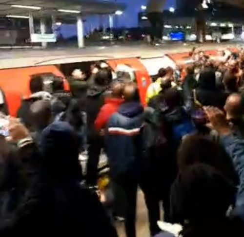 Angry commuters drag XR protesters off Tube as they try to glue themselves on
