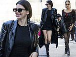 Kendall Jenner puts on a leggy display in while Bella Hadid is effortlessly chic during MFW