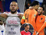 Lyon star Memphis Depay pays tribute to international team-mate Virgil van Dijk