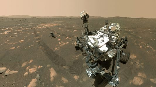 Like a proud parent, Perseverance Mars rover snaps a selfie with Ingenuity drone