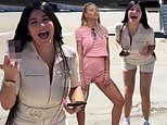 Kylie Jenner happily joins BFF Sofia Richie on a private jet to Vegas for her 21st birthday