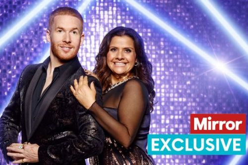 Strictly's Nina Wadia has dropped 'couple of dress sizes' due to gruelling training