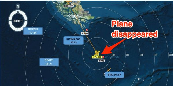 A military plane flying from Chile to Antarctica has vanished with 38 people on board