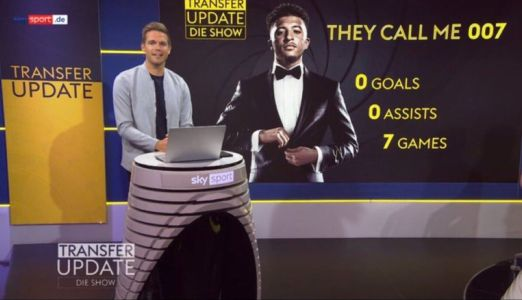 Sky Germany hilariously troll Man Utd flop Jadon Sancho after 0 goals and 0 assists from first 7 games