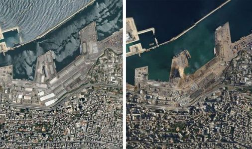Beirut explosion: Before and after satellite photos expose the devastating scale of blast