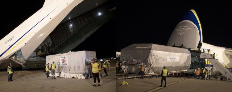 Egyptian satellite, ESA science probe share plane ride to launch base