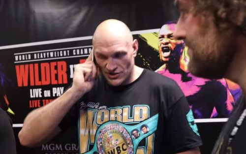 Tyson Fury shares emotional phone call with his dad John Fury after beating Deontay Wilder