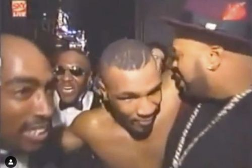 Rare footage emerges of Mike Tyson and Tupac just hours before rapper's death