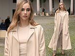 Suki Waterhouse commands attention as she arrives at Hugo Boss' MFW show